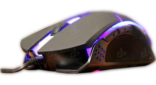 Imagen 1 de 4 de Mouse Gamer Eagle Warrior G13 Retroiluminado 2400dpi