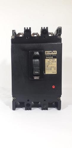 Breaker Totalizador Trifásico Siemens 15 Amp