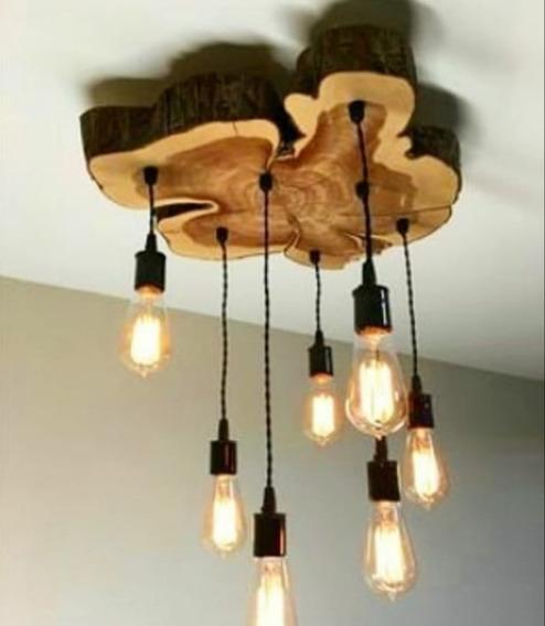 Luminária Tronco De Árvore