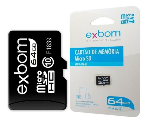 Cartão Sd 64gb Exbom
