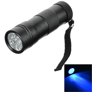 12 Led Uv Flashlight Black