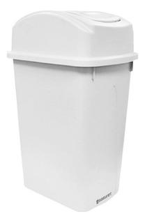 Sunronal Bote de Basura para el hogar Montado en la Pared de pl/ástico con Tapa Ba/ño de la Cocina Colgado Cubo de Almacenamiento Bote de Basura Contenedores de Reciclaje en el Interior