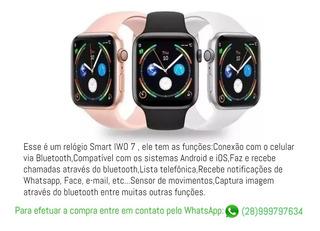 Relógio Smart Iwo 7 Siri Para Android E Ios.