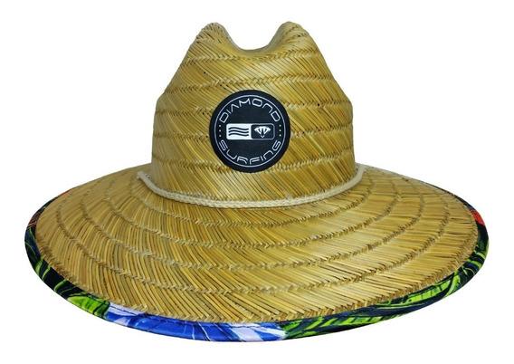 Chapéu De Palha Estampado Floral Diamond Original