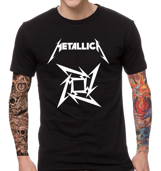 Remera Metallica Rock Internacional Rebel Label