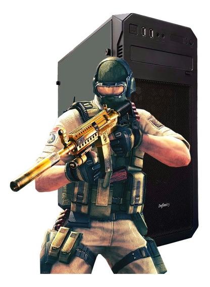 Pc Gamer Strike Core 2 Quad, 8gb Ram, Gt 710, Ssd + Brinde