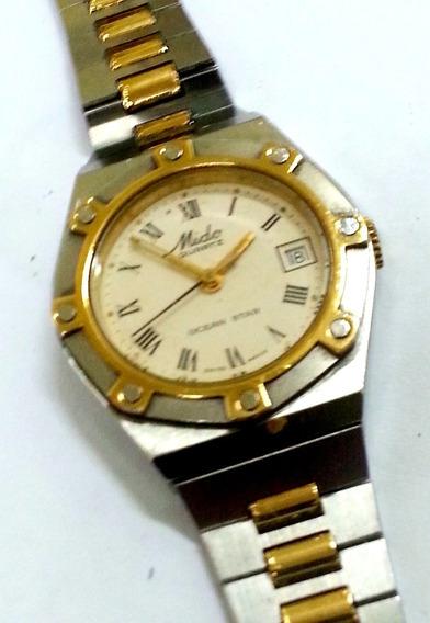 Relógio Mido Aço E Ouro