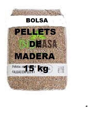 Imagen 1 de 3 de Pellets Madera Para Estufas Pack 6 Bolsas De 15 Kg
