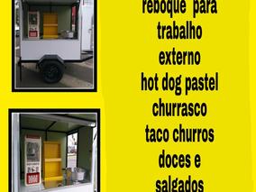 Carretinha Reboque Falcão Food Truck Nova