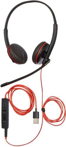 Imagem 1 de 5 de Headset Plantronics Estéreo C3225 Usb P/n 209747-101