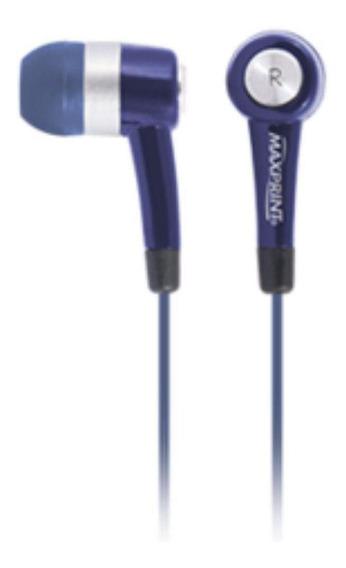 Fone De Ouvido Maxprint Maxsound Com Microfone Azul