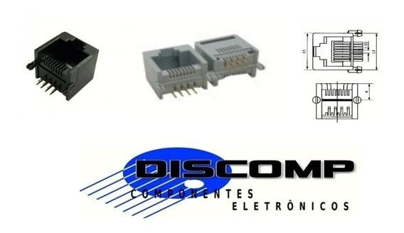 Conector Rj45 P/ Pci - Fêmea - Bandeja Com 100 Und