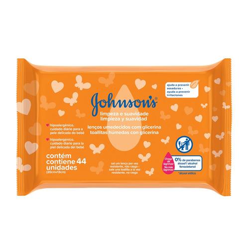 Imagen 1 de 2 de Toallitas húmedas Johnson's Baby Limpieza & Suavidad 44u