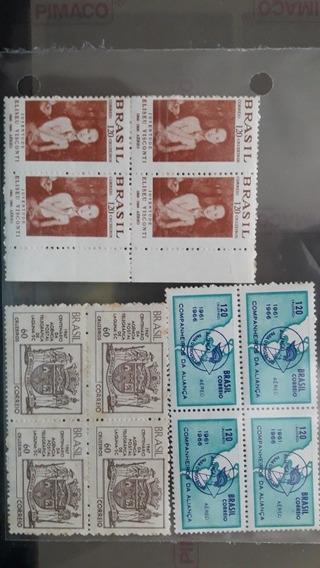 Brasil - 03 Quadras Comemorativas. Mint. Novos