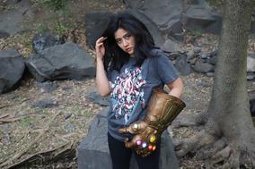 Playera Avengers Endgame Máscara De Látex