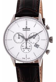Reloj Edox Les Vauberts Chrono 104083aain Hombre   Original