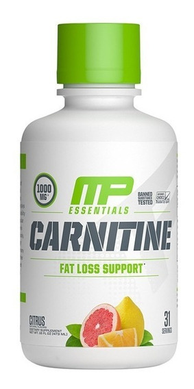 Suplemento Musclepharm Carnitina 473 Ml 30 Servicios