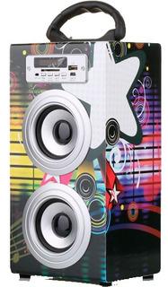 Parlante Inalamb Portatil Bluetooth Ds25 Radio Usb Impacto