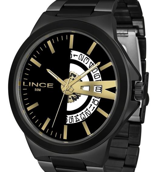 Relógio Lince Grande Original Masculino Mrn4575s P1px Preto