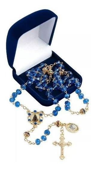 Terço Nossa Senhora Aparecida Azul 300 Anos De Bençãos