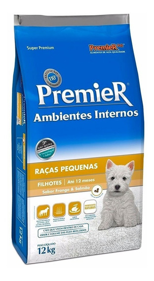 Ração Premier Ambientes Internos Cães Filhotes 12 Kg