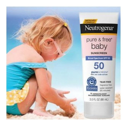 Protetor Solar Lotion Neutrogena Pure & Free Baby Spf50 88ml