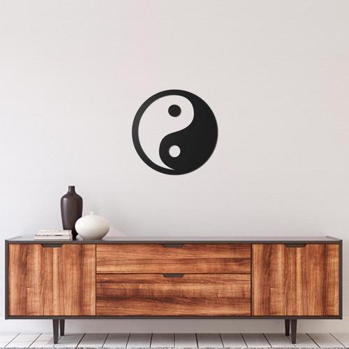 Imagem 1 de 1 de Quadro Decorativo Parede Esotérico Yin Yang 60cm