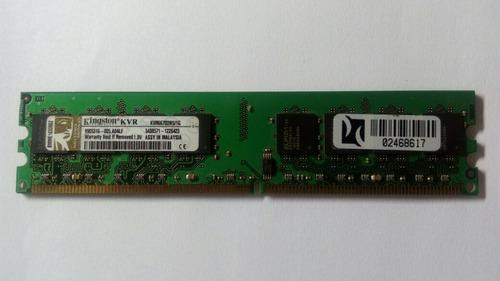 Imagem 1 de 1 de Memoria Ram Kingston Kvr667d2n5 Ddr2-667 1gb Desktop