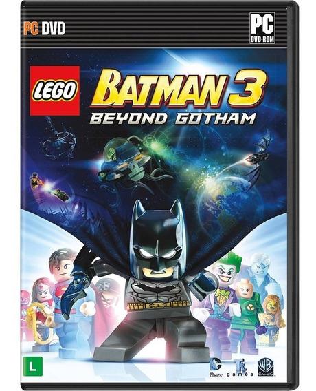 Jogo Lego Batman 3 Beyond Gotham Pc Mídia Física Português