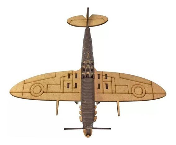 Miniatura Aviao Spitfire Brinquedo Antigo 0419