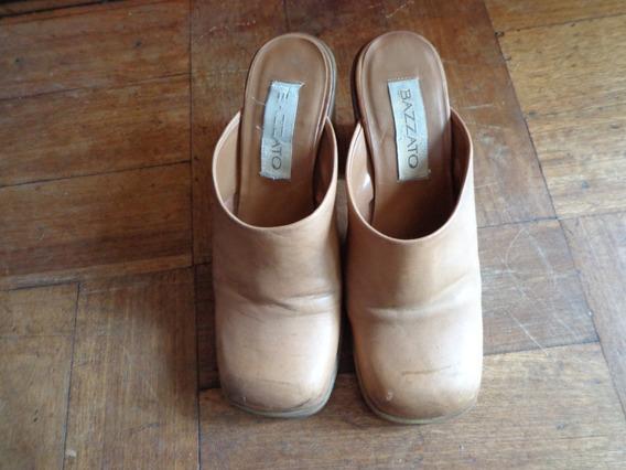 Zapatos De Cuero Café Marca Bazatto, 37.