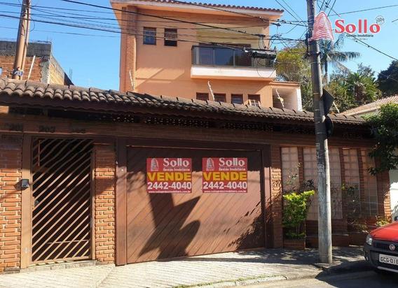Sobrado Com 3 Pavimentos, 3 Suítes E 6 Vagas Em Palmas Do Tremembé - Sp - So0101