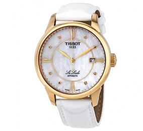 Relógio Tissot Automático Feminino Lelocle Madre Pérola Ouro