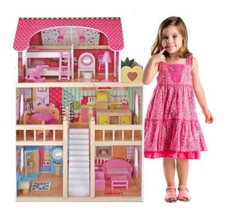Casa De Muñecas Con Muebles Casita Para Niñas (-emily)