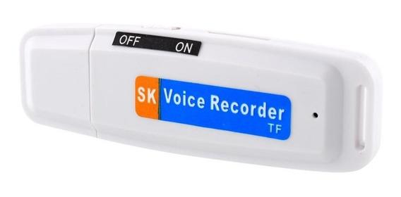 Mini Gravador De Voz Suporte Cartão Tf Usb Voice Recorder