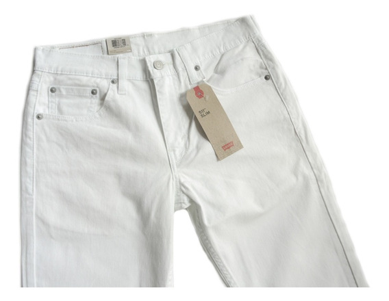Calça Jeans Masculina Levis Original 511 Slim Branca