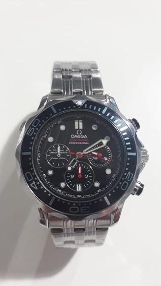 Relógio Rpk Omega Seamaster Cronógraph - Preto