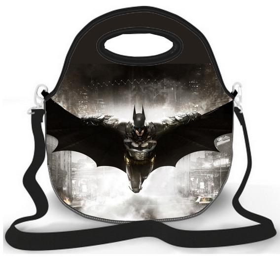 Bolsa Lancheira Neoprene Batman