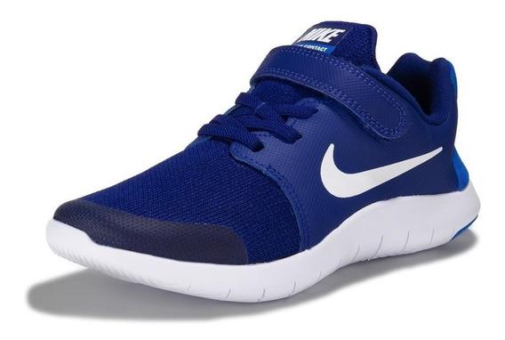 Zapatillas Nike Flex Contact Para Niño - Color Azul