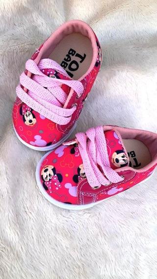 Kit Revenda 12 Sapatos Bebe Tênis Menina Infantil De Fabrica