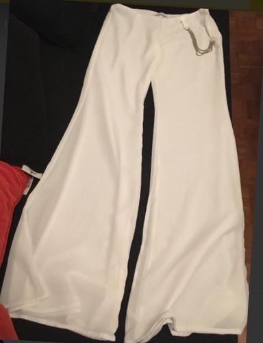 Pantalón Blanco De Vestir Ossira Oxford
