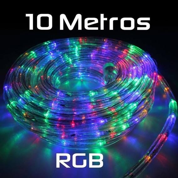 Manguera Led Rgb / Calido 10 Metros 220w Flexible Exterior