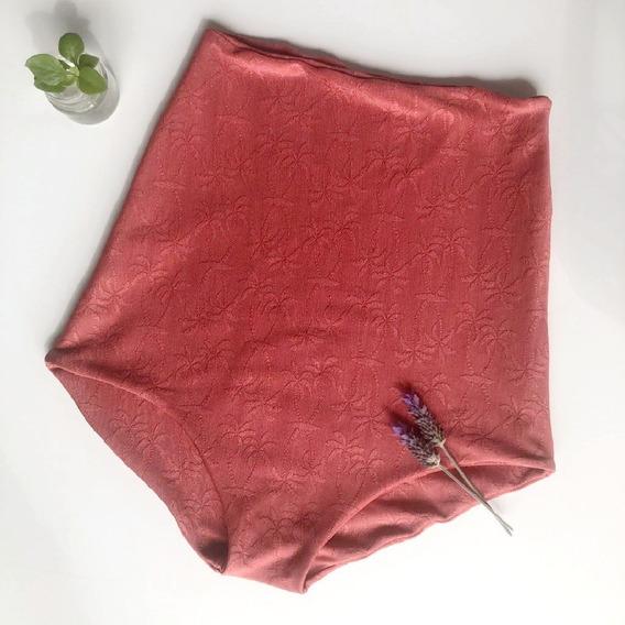 Malla Bombacha Tiro Alto Reversible - Bikini - Once Talles