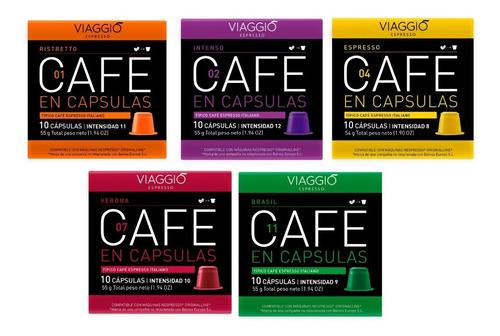 Cápsulas Café Para Nespresso - Pack 50 Viaggio Espresso