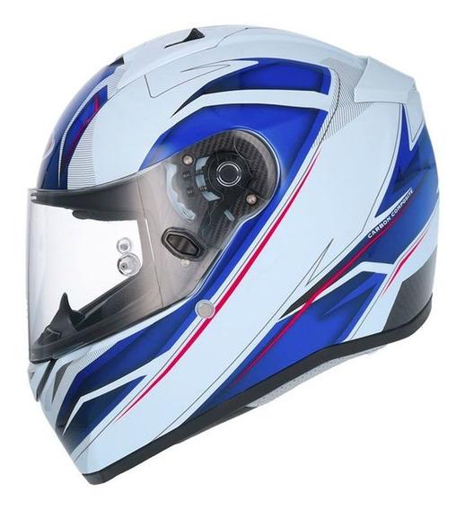 Capacete Shiro Sh-336 Crown Azul Rs1