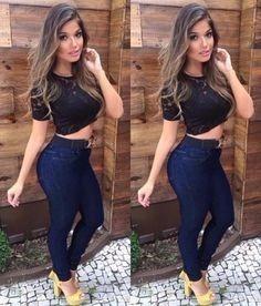 vista previa de venta de bajo precio gran venta Jeans Pantalon De Dama Strech Corte Alto