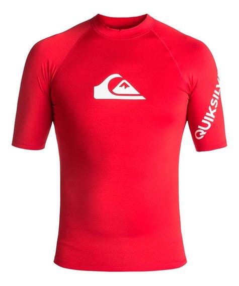 Playera Deportiva Para Surf Hombre Ajustable Rojo Quiksilver