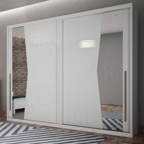 Guarda Roupa Casal Com Espelho 2 Portas De Correr Geom Novo