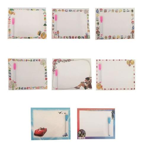 Imagem 1 de 1 de 10 Lousa Quadro Adesivo Desenho Infantil + Caneta Brinde Kit