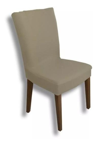 Jogo 4 Capas Para Cadeira Jantar Malha Com Elástico Cores